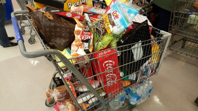 My weekly grocery cart