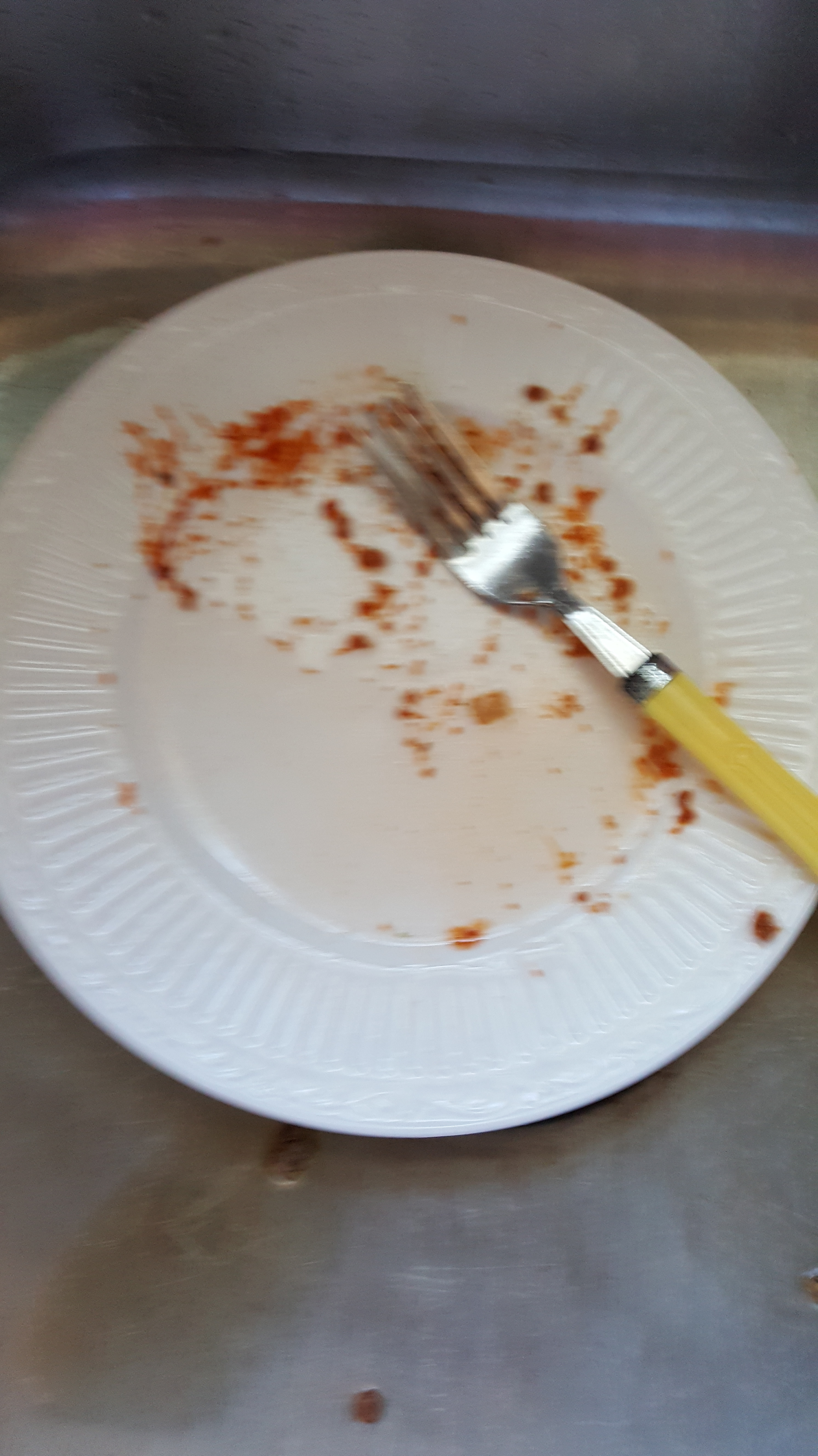 the unrinsed plate